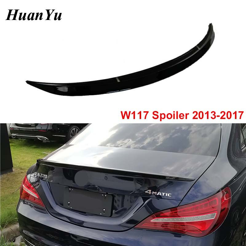 Rear <font><b>Spoiler</b></font> for Mercedes-benz CLA W117 Rear Boot Tail Wings 2013-2017 year CLA200 <font><b>CLA250</b></font> ABS Duck Wings image