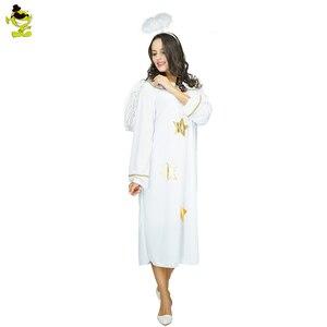 Image 2 - 新しい天使衣装ドレスな純白の角度ハロウィン衣装大人のための女性のファンシードレス衣装