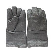 Бесплатная доставка высокая температура 1200 по цельсию изолированный и устойчивые качества безопасности защитные перчатки анти-огонь рабочие перчатки