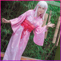 Anime Cosplay Izumi Sagiri Clothes Female Traditional Japanese Kimono Lounge Yukata Halloween Costume Printed Girls Robe Gown