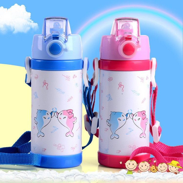 280360ml cartoon Vacuum stainless steel water bottle cup Baby Thermos Mugs Child Thermal Drink Travel Cups leakproof HJ38 (7)