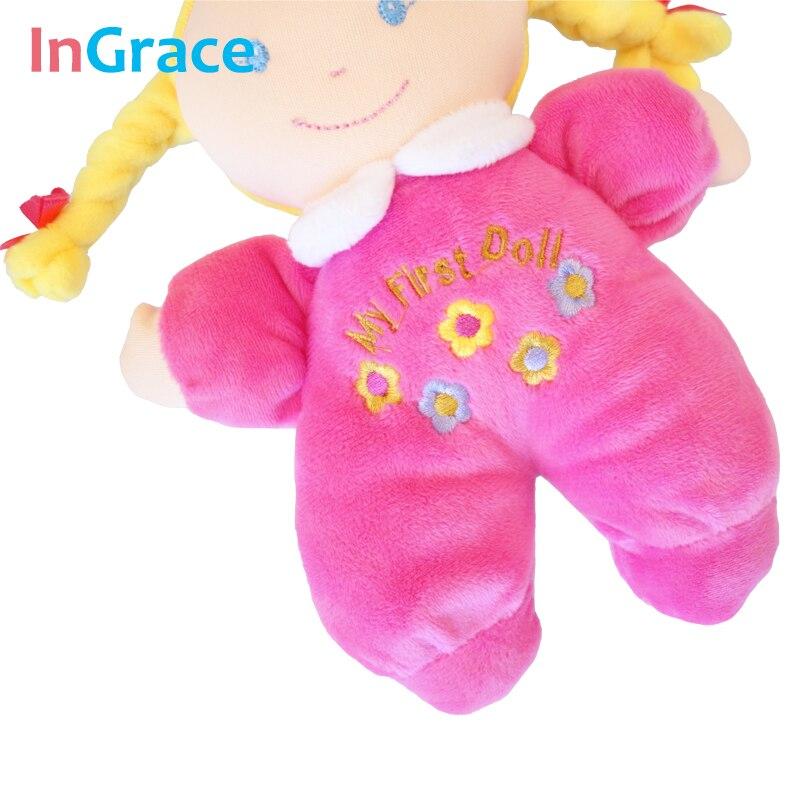 Ingrace fashion baby born doll 3 color soft Rattle toy stuff and baby - Anak patung dan aksesori - Foto 6
