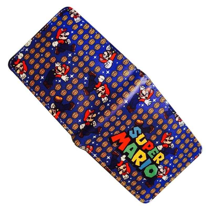 Super Mario World Wallet Leather Folded Purse Cartoon Creative Gift Bags carteira masculina Gift Kids Men Women Short Wallets