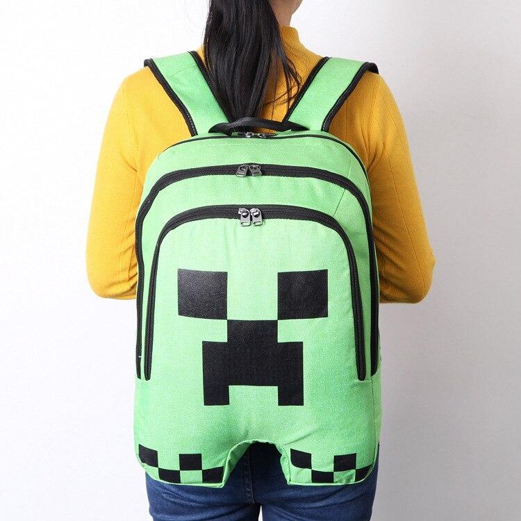 Heißer Primäre Rucksack Minecraft Cartoon Rucksack Kinder Schule Taschen Jungen Und Mädchen Täglichen Mochila Schul Großhandel Willkommen Rucksäcke