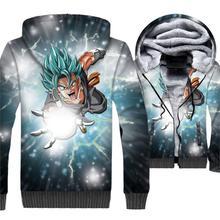 Dragon Ball Anime Hoodies 2018 Winter Thick Man Sweatshirts Hip Hop Zipper Men's Jacket Harajuku Unisex Fleece Coat For Men Tops hot sale mens clothing 2018 dragon ball 3d hoodies hip hop unisex sweatshirts harajuku men s coat winter thick masculine jackets