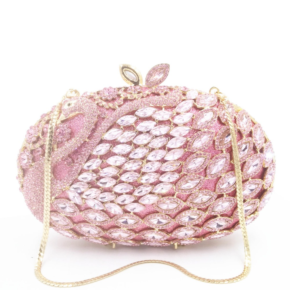 women pink/gold/red multi color Crystal diamond Clutch Evening Bags Bridal Wedding Party Prom Handbag Purse day Clutches wallet цена