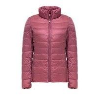 Winter Jacket Women Slim Downs Jacket Warm Basic Jackets Coat Female Ultralight Windproof Jackets Outwear Parkas