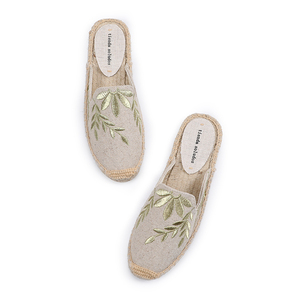 Image 2 - Tienda Soludos Slippers Women New Arrival Hemp Rubber Cotton Fabric Mixed Colors Summer Pantufas Zapatos De Mujer Slides