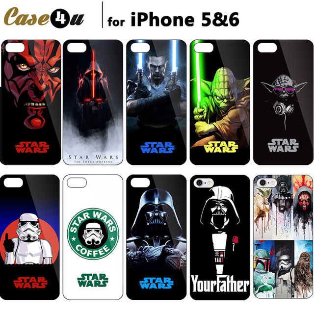 Exclusivo! Star Wars Skywalker Darth Maul Legal Retrato Arte Impressão Capa Para iPhone 6 s 6 Caso 5S 5 Starwars