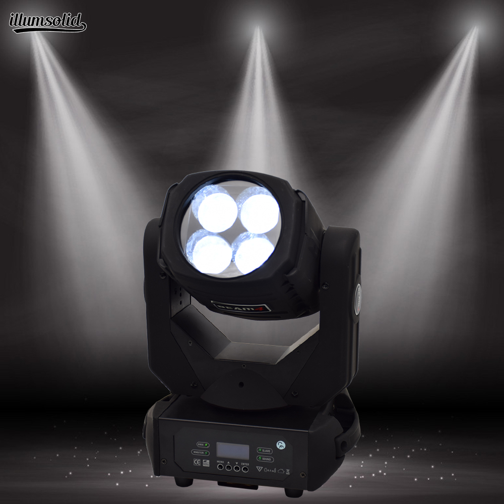 Super Beam 4x25w Led Moving Head Light Dmx Disco Party Dj Led Effect Light