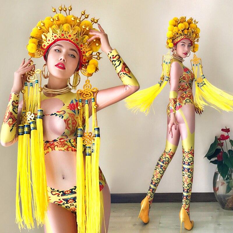 129de46fe new sexy fashion bar ds costumes nightclub dj singer dance Sexy gogo stage  clothing women