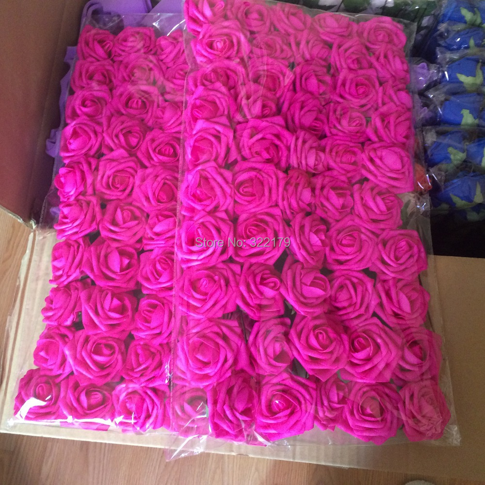 Hot Pink Bouquet Flowers Artificial Fuchsia Rose For Wedding Fl Arrangement Bridal Posy Arch Lnrs002 In Dried From