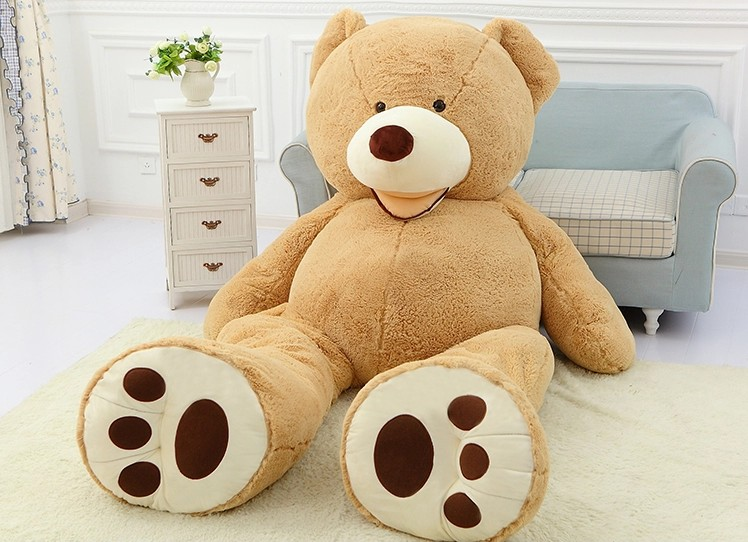 51 Inch Giant Teddy Bear Plush Toy Life Size Teddy Bear 1 Pcs 130cm Kids  Toys Birthday Gift Valentineu0027s Day Gifts  In Stuffed U0026 Plush Animals From  Toys ...