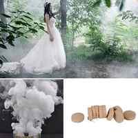 10 sztuk/pudło biały dym ciasto pastylki biało efekt dymu pokaż wesele DIY tło Decor fotografia pomocy narzędzie dekoracyjne rekwizyty