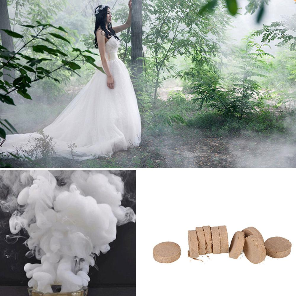 10Pcs/Box White Smoke Cake Pills White Smoke Effect Show Wedding Party DIY Backdrop Decor Photography Aid Decoration Tool Props