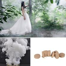 10Pcs/Box White Smoke Cake Pills White Smoke Effect Show Wedding Party DIY Backdrop Decor Photography Aid Decoration Tool Props все цены