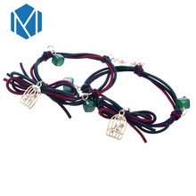 Q MISM 1 Lot=2 PCS New Women's Elastic Hair Bands Three Layer Colorful Pearl Alloy Pendant With Diamond Rubber Band For Girls(China)