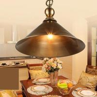 Античная 1 шт. медная подвеска осветительное оборудование для кафе спальня столовая подвесные светильники Американский industrial light E27 Avize