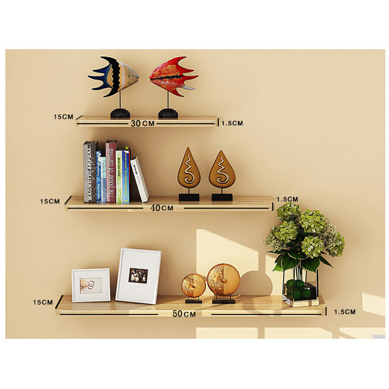 3 Pieces Modern Minimalist Partition Book Wall Shelf Living Bedroom ...