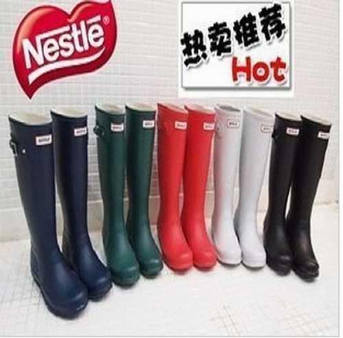 Cheap Fashion Women Rubber Rain Boots Shoes Full Size / Color Free Shipping