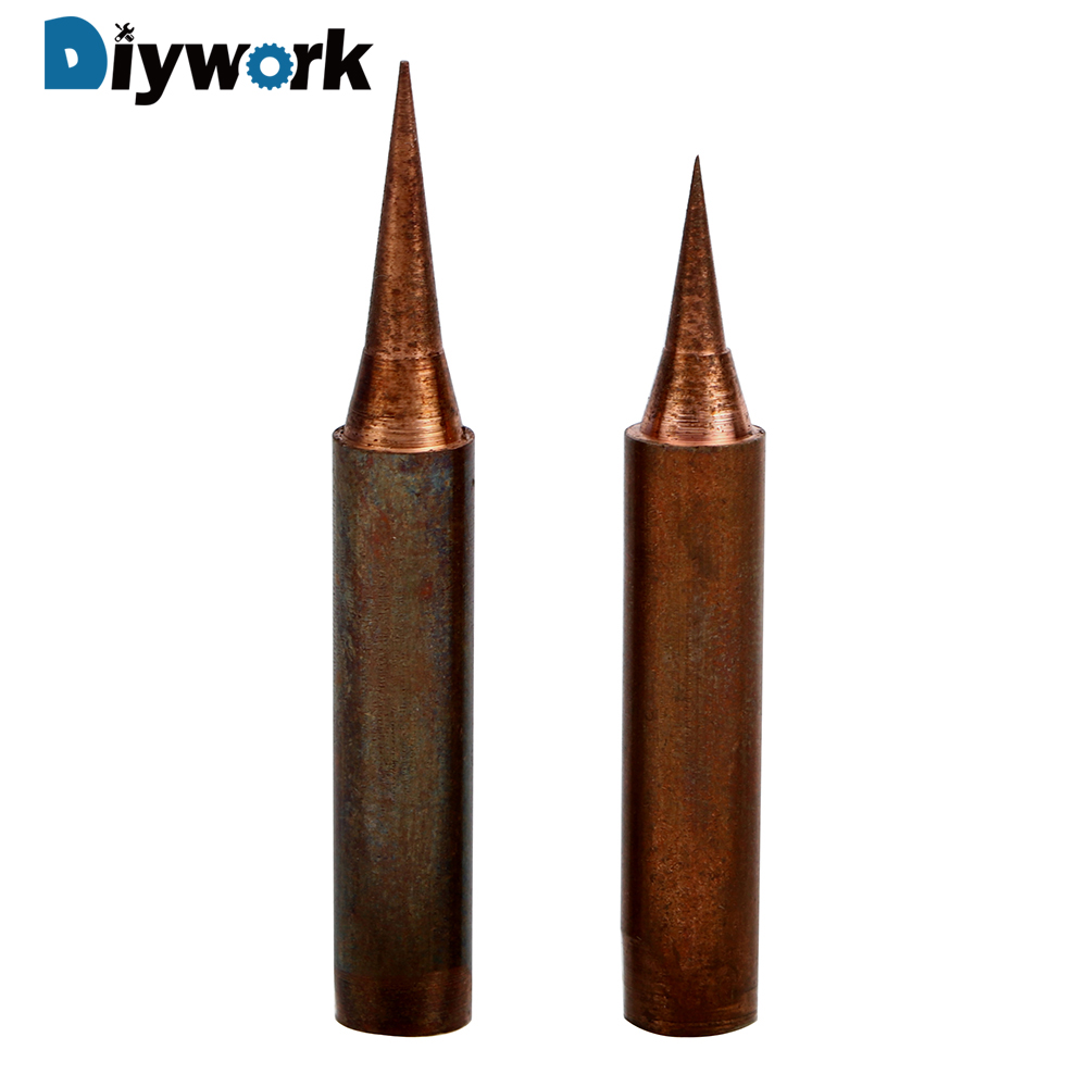 DIYWORK Non-magnetic For Solder Station Tools 900M-T-I 900M-T-SI Oxygen-free Copper Soldering Iron Tip