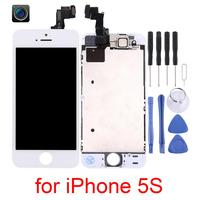 Grade AAA+++ For iPhone 5S LCD Withwith Front Camera Touch Screen Digitizer Assembly For iPhone 5S Display No Dead Pixel