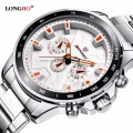 LONGBO Military Decorative Chronograph Stainless Steel Band Sports Quartz Watches For Men Male Watch Relogio Masculino Clock