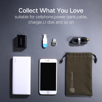 Ugreen étui de batterie de puissance pochette de téléphone pour iPhone Samsung Xiaomi Huawei étanche Powerbank sac de rangement accessoires de téléphone portable 2
