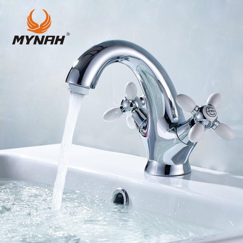 MYNAH washbasin mixer Russia free shipping classic basin faucet bathroom faucet double double control multi choices|basin faucet|bathroom faucet|washbasin mixer - title=