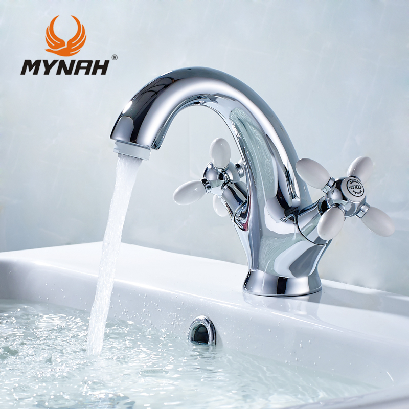 MYNAH washbasin mixer Russia free shipping classic basin faucet bathroom faucet double double control multi choices
