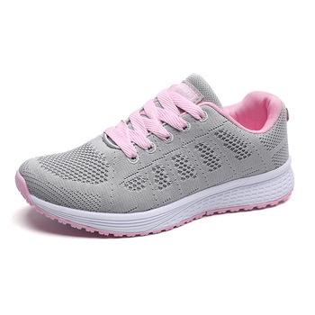 Kobiety buty moda Outdoor 2019 białe trampki wysoka marka jakości Casual oddychające buty Mesh miękkie tenisowe buty damskie tanie i dobre opinie KUIDFAR Siateczka (przepuszczająca powietrze) CN (pochodzenie) inny Płytkie Stałe Na wiosnę jesień Mieszkanie (≤1cm)