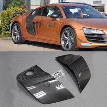 CF Kit 2PCS Carbon Fiber Door Fenders Side Blade Skirts Refit For Audi R8 Coupe 2008- Car Styling