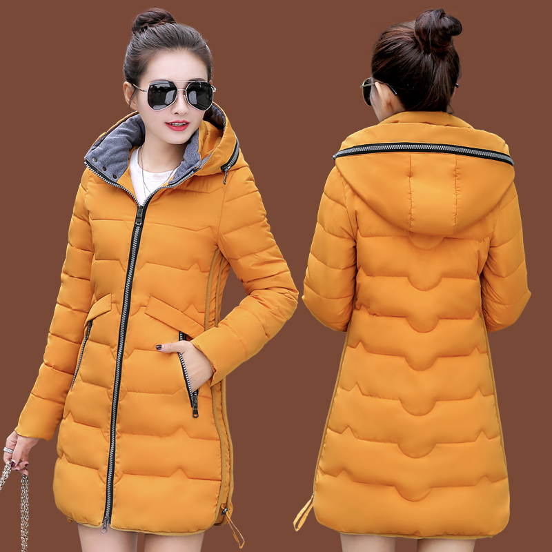 New Winter Jacket Women Cotton Long Jacket Fashion 2018 Padded Wadded Slim Plus Size 5XL 6XL 7XL Hooded   Parkas   Coat Female Z110