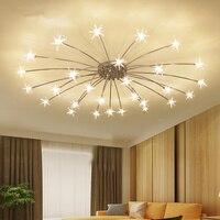 Современные потолочные Спальня Гостиная современный светильник G4 Star потолочных светильников блеск светодиодный для детской комнаты