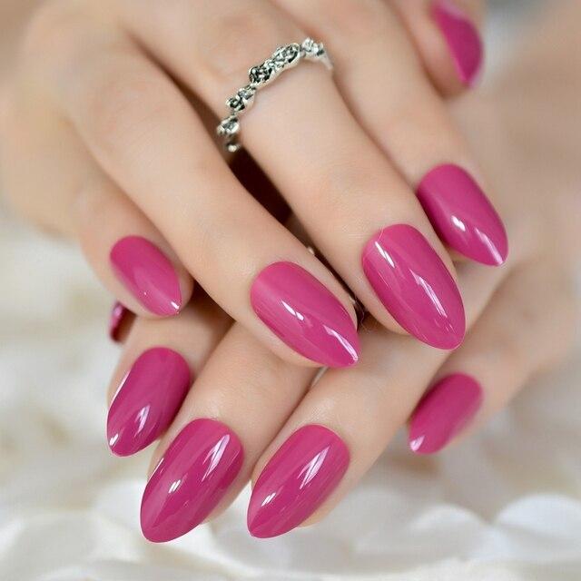 Stiletto Nails Ruby Tuesday Light Rose Pink Almond False Nails Uv