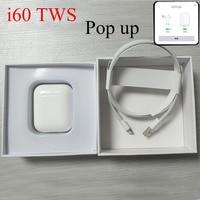 Pop up 1:1 i60 TWS Replica Separate Wireless Earphone QI Wireless Charging Bluetooth Earphones Bass Earbuds PK W1 chip i20 i30