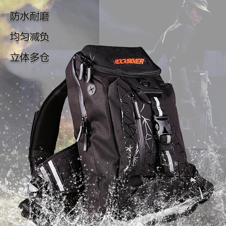 Livraison gratuite 2017 Rock biker affaires Excelsior Pack voyage sac à dos ordinateur portable tablette sac à dos noir étanche sac à dos