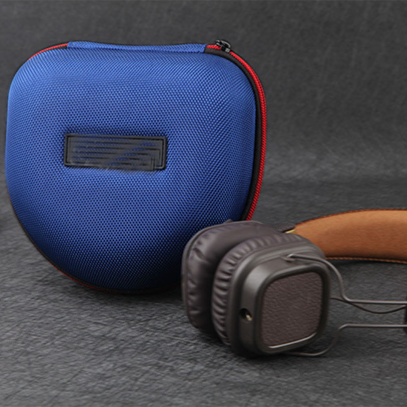 cheapest Shockproof EVA Headphone Case Portable Storage Headset Box High Quality Earphone Accessories Zipper Bags For Marshall Headset
