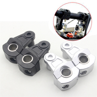 22mm Or 28mm Universal CNC Aluminum Motorcycle Handle Bar Clamp Handlebar Riser Adjustable For Most Motorcycle