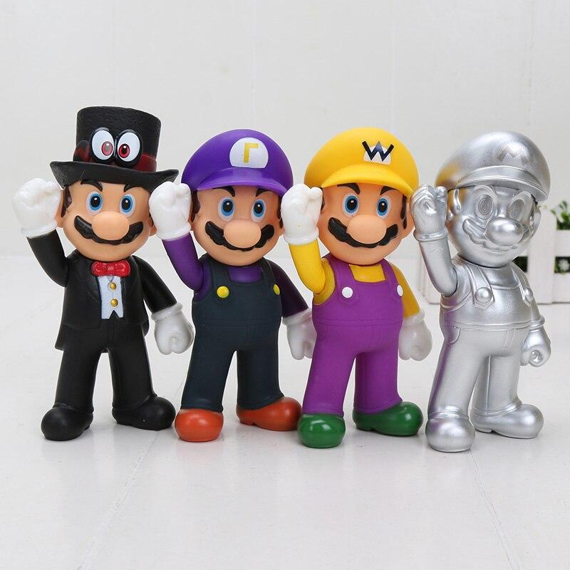 8 15cm Super Mario Bros Odyssey Bowser Koopa Troopa Yoshi Mario