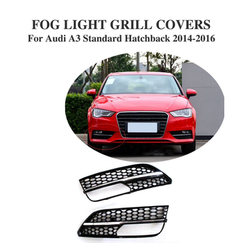 ABS Fog lamp mask cover Grille Chrome Frame Grill  For Audi A3 Standard Hatchback bumper 2014-2016