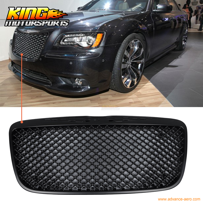 For 2011-2014 Chrysler 300 300C B Style Black Front Mesh Grill Grille USA Domestic Free Shipping Hot Selling for 04 10 nissan titan armada fog lights clear light lamps passenger driver usa domestic free shipping hot selling