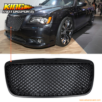 For 2011 2014 Chrysler 300 300C B Style Black Front Mesh Grill Grille USA Domestic Free Shipping Hot Selling