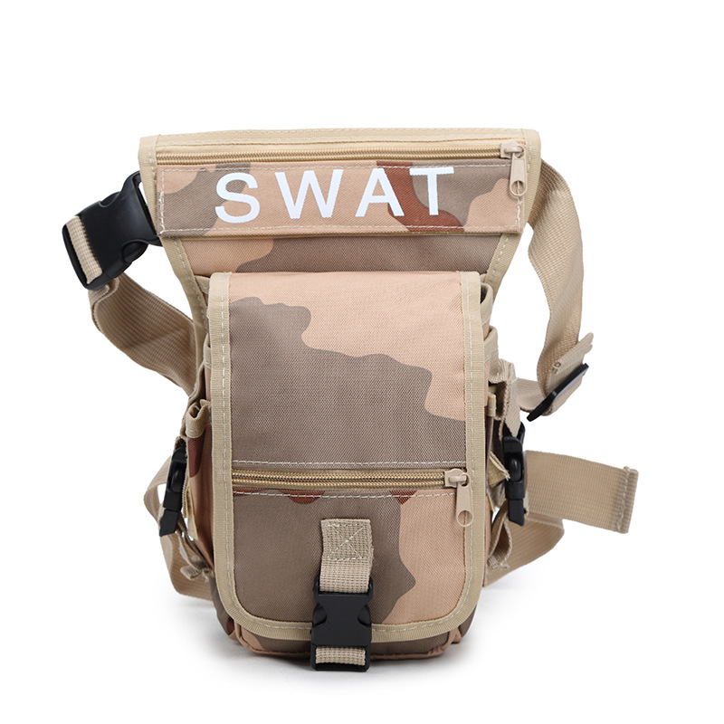 Outdoor Waterproof Waist Leg Bag Thigh MOLLE System Fanny Pack Belt Messenger Military D ...