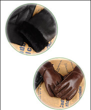GLV837 Bmen and women warm wool fur leather winter font b gloves b font motorcycle ride