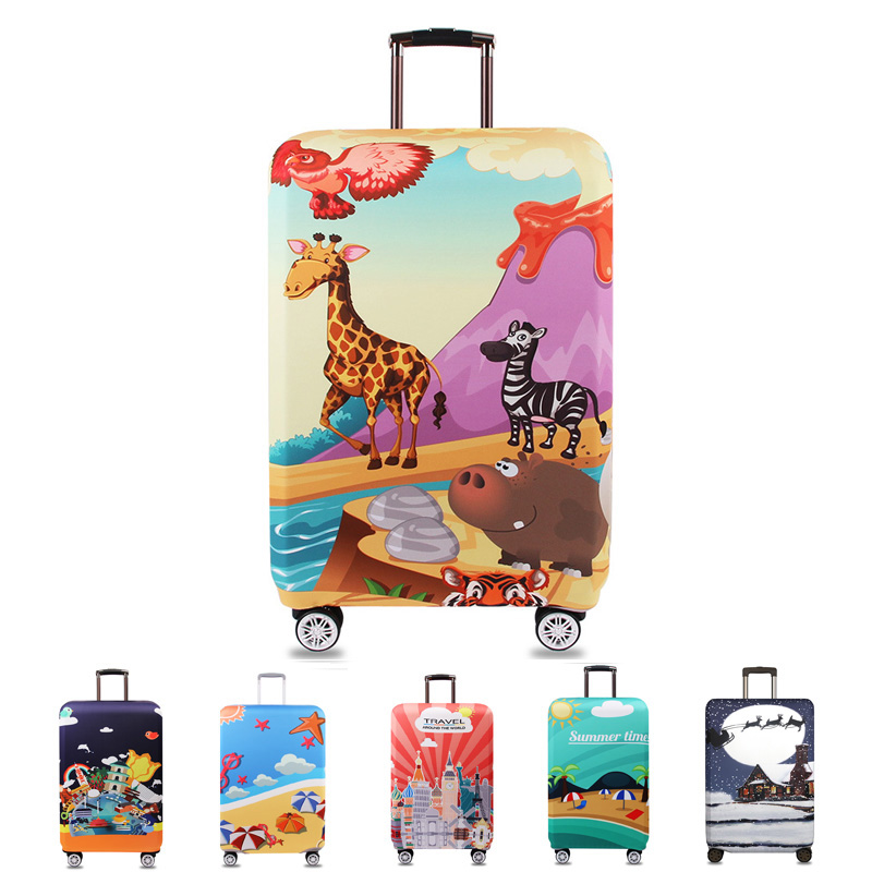 New Fashion Cartoon Luggage cover Protective Cover Clutch Elastic Cloth Thickened Dust Cover For 18