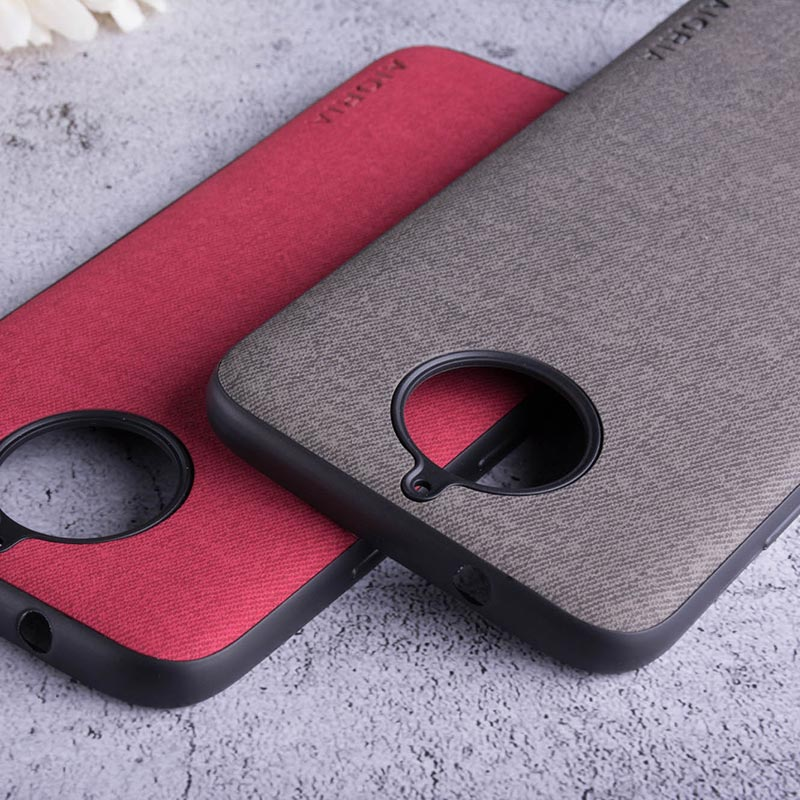 Real Fabric Case For Motorola Moto G5S Plus G7 Plus Soft TPU Silicone & Fabric Skin Covers Coque Fundas Covers For Moto G6 Plus