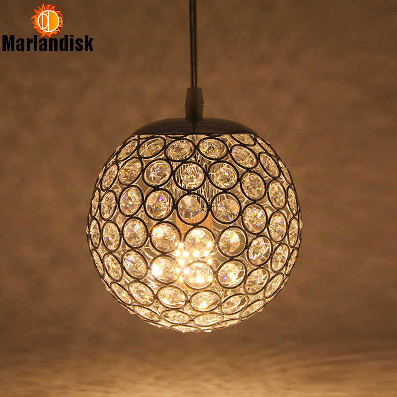 E27 moderno agradable colgante luces oro/colgante de plata de la luz bola redonda de cristal D15CM lámparas colgantes para sala de estar cama habitación (DN-65)
