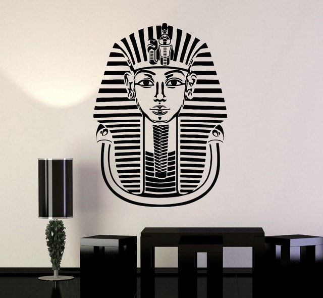 free shipping vinyl decal pharaoh ancient egypt tutankhamun wall