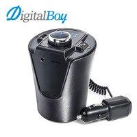 Digitalboy Transmissor FM Carro MP3 Player Kit Mãos Livres Bluetooth Carro Dupla USB Carregador de Carro Display LED Play TF U Disco de Música AUX